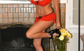 Kelly Madison Sexy In Red Kelly Is A Senorita That Likes A Red Dildo In Her Spicy Pussy.