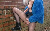 UK Flashers Young Blonde Chick Masturbating In An Alley