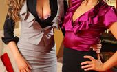 Only All Sites Leah F 279831 Leah F And Jessica Spencer Enjoy Stripping Out Of Their Secretary Outfits And Posing In Their Stockings And Heels. (Non Nude)