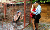 Pissing in Action Kirsten Plant Man In A Big Cage Likes Urinating And Fucking Babes Hard