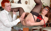 Moms Give Ass Gloria & Walter Tempting Mom Dildo Toying In Lingerie And Stiletto Heels Getting Ass Fucked