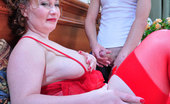 Moms Give Ass Flo & Benjamin 281056 Sultry Mature In Sexy Red Lingerie Lures A Boy Into Fucking Her Plump Butt
