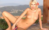 Sasha Von Sexy Red Bikini Adorable Sasha Von Getting Naked Outdoor And Plays With Red Dildo