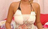 Sasha Von Sasha In White Dress Exotic Teenie Sasha Von In White Dress Stripping And Posing Horny