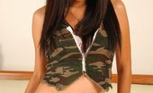 Asian Candy Shop Mintra Strips Off Camo Shorts And Top