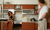 Boys Love Matures Alana & Tobias Fiery Mom Warming Up Her Wet Muff Before Going For A Quickie In The Kitchen