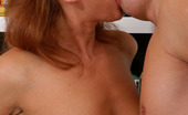 Boys Love Matures Bridget & Connor Sizzling Hot Mature Chick Munching On Young Beefy Meat And Taking It Up