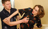 Boys Love Matures Katharine & Oscar Horny Boy Falling A Victim Of Mature Babe'S Dirty Scam To Get His Mean Cock