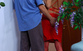 Boys Love Matures Helena & Rolf Lusty Milf In A Red Gown Flirting With A Guy For A Fuck With Oral Foreplay