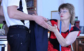 Boys Love Matures Leonora & Charles Old Spectacled Seamstress Makes Extra Measurements Of A Young Sturdy Cock