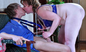 Boys Love Matures Flo & Benjamin Lustful Chubby Mommy In Royal Blue Lingerie Seducing A Next-Door Boy