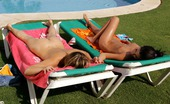 Sapphic Erotica Liz And Jackie1 Sensual Sunbathing Lesbians Just Cant Resist Licking Pussy