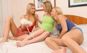 Sapphic Erotica Anais Tilly And Lorin See Lovely Young Girls Glide A Huge Dildo Into Cute Pussy