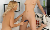 Sapphic Erotica Breena And Gerri2 Sexy Young Blondes Fuck With A Dildo And Kiss And Lick Deep