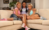 Sapphic Erotica Tessa Sharon And Zoe B0 292369 Dazzling Trio Bangs Tight Pussies With Strapon And Dildo
