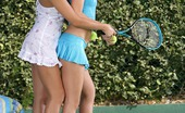 Sapphic Erotica Billy And Isabella3 Gorgeous Honeys Nude And Make Sweet Love On Tennis Court