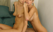 Sapphic Erotica Sarah And Celine8 Sensual Honeys Lovingly Embrace And Dildo Pussies In Bed