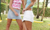 Sapphic Erotica Rene And Sharon3 Playful Blondes Tenderly Kiss And Make Sweet Love In Bed