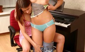Sapphic Erotica Emilie And Bretta8 Horny Piano Students Nude And Dildo Fuck Shaved Pussies