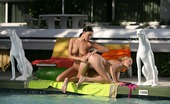 Sapphic Erotica Judit And Isabella1 Blazing Teen Honeys Cool Off Kiss And Have Sex In The Pool