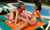 Sapphic Erotica Liz And Jackie9 Sunbathing Honeys Oil Up And Lick Pussies And Butts Poolside