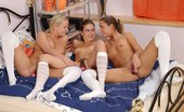 Sapphic Erotica Valerie Nika And Susana5 Schoolgirl Trio Gets Naked Licks And Fondles Pussies In Bed
