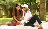 Sapphic Erotica Zoe And Devin2 Hot Cowgirl And Navajo Cutie Lap Pussies And Finger Butts