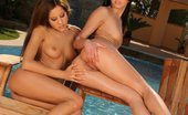 Sapphic Erotica Brooke And Anitta0 Teen Vixens Oil Up Their Hot Bodies And Finger By The Pool