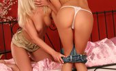 Sapphic Erotica Luka And Charlotte0 294913 Luscious Blonde Vixens Lap And Strapon Fuck Twats In Bed