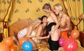 Sapphic Erotica Lena Rene Sally And Salma0 Four Enticing Teens Lap And Rub In A Hot New Years Eve Orgy