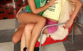 Sapphic Erotica Chiara And Anya1 Adorable Blonde Teens Lustily Lick And Dildo Shaved Pussies