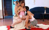 Sapphic Erotica Megan Ioana And Abigaile2 Enticing Teen Trio Strips Licks And Fingers Shaved Twats