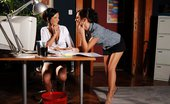Sapphic Erotica Eva And Anastasia8 Exquisite Secretaries Strip And Have Hot Sex In The Office