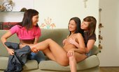 Sapphic Erotica Three adorable teens lap and finger pussies Vanda Moni And Kelsie10 Adorable Threesome