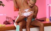 Sapphic Erotica Luscious teens lap and finger smooth twats Paula And Aloha4 Luscious Twosome