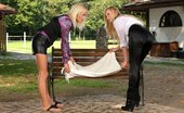 Sapphic Erotica Hot blondes finger and lick on park bench Claudia And Sunshine4 Park Affair