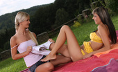 Sapphic Erotica Mellie & Camie Perfect Picnic Two Horny Girl Friends Lick And Finger Fuck At A Picnic
