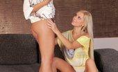 Sapphic Erotica Lila & Bailey Hot Teens Lovely Lesbian Teens Having Some Sensual Fun On The Sofa