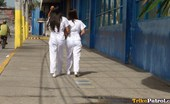 Trike Patrol Joanna And Joy - Set 2 - Video Two Sexy Filipina Nurses Give Special Care To Lucky Tourist