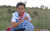 Trike Patrol Sally - Set 2 - Photo Filipina Schoolgirl Fucked Outdoors In Open Field By Tourist