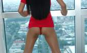 Trike Patrol Leanne2 - Set 1 - Photo 297481 Slender Sexy Filipina With Fake Tits Strips Nude By Window