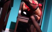 Lily Wow Hot MILF Shows Long Sexy Legs In Black Backseamed Stockings