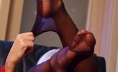 Lily Wow Sexy Business Lady In Hot Vintage FF Stockings And High Heels