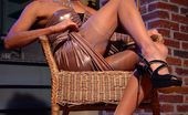 Lily Wow Luxury Leggy MILF In Sheer Nude Vintage Stockings
