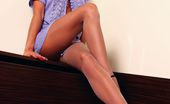 Lily Wow Longest Sexy MILF Legs In Nude Pantyhose And High Heels