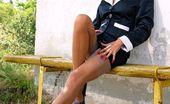 Lily Wow Leggy MILF LilyWOW In Classy Grey Vintage Stockings