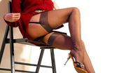 Lily Wow Leggy Pornstar Lily In Vintage Stockings
