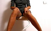 Lily Wow Hot Office Whore LilyWOW In Sheer Vintage Stockings And Stilettos