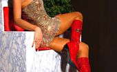Lily Wow Horny Leggy Milf Lily In Stockings And Red Boots