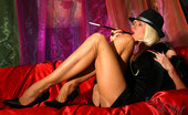 Lily Wow Leggy Gangster Babe In Classic Stockings